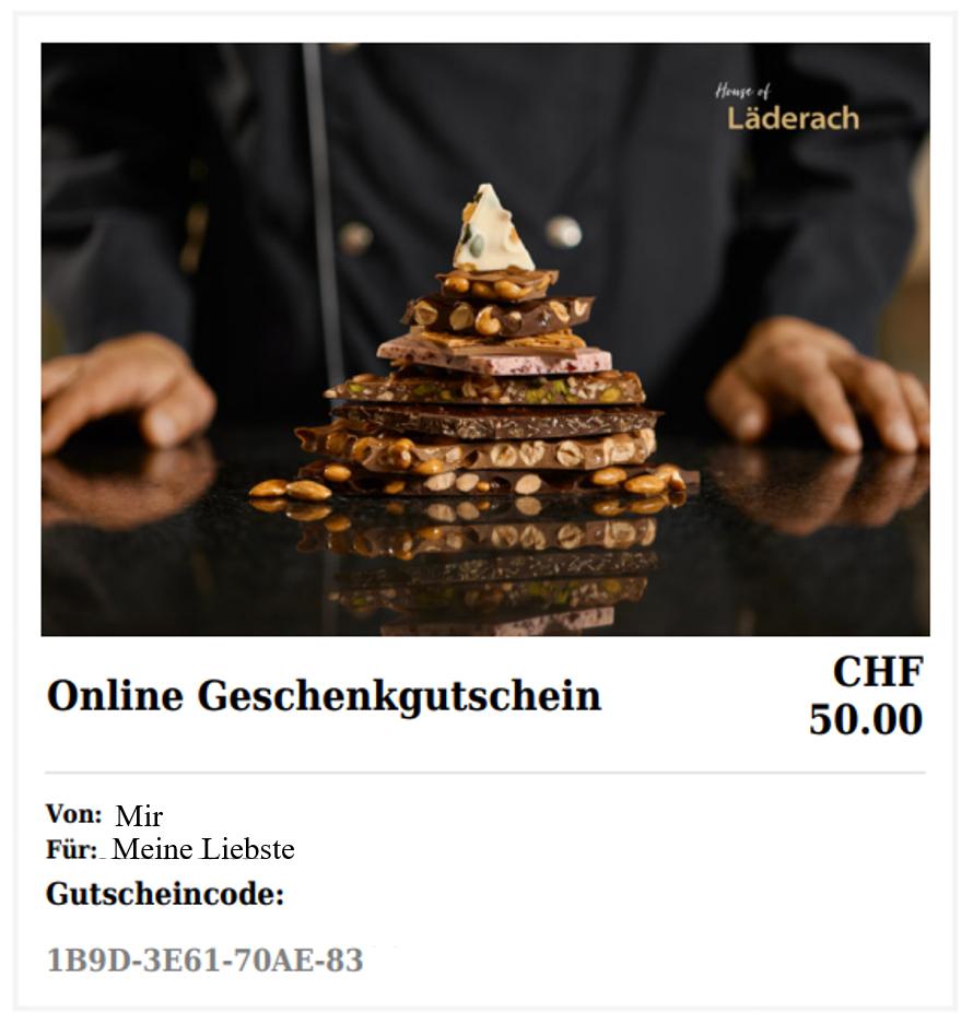 House of Laderach_Voucher Online